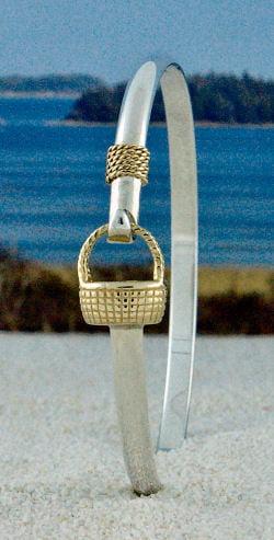 Two Tone Lg Nantucket Basket Bracelet The Crystal Pinele