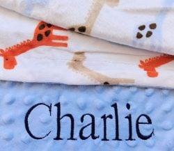 Giraffe baby blanket for boys