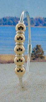 Five Ball Cape Cod Bracelet Two Tone