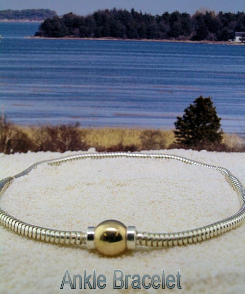 Cape Cod Two Tone Soft Anklet The Crystal Pineapple
