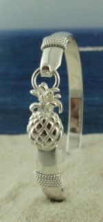 silver pineapple bangle