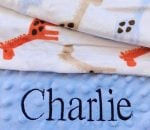 Giraffe baby blanket for boys