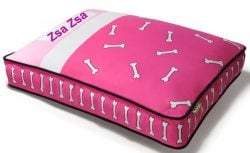 Custom dog bed cover pink