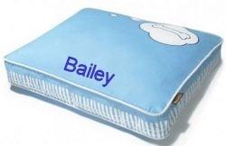 blue custom dog bed cover