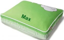 green custom dog bed