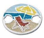 beach scene clasp