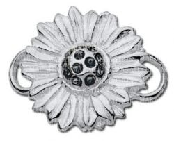 silver sunflower clasp