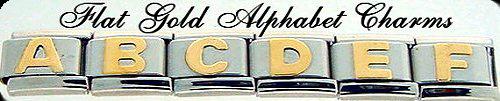 Flat Gold Alphabet