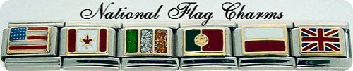 National Flag Charms