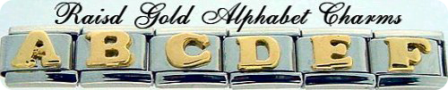 Raised Gold Alphabet