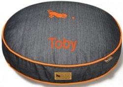 medium denim custom dog bed cover